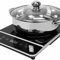 "Rosewill Induction Cooker 1800-Watt, Induction Cooktop, Electric Burner with Stainless Steel Pot 10"" 3.5 QT 18-8, RHAI-13001"