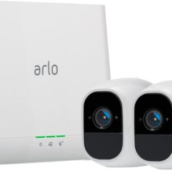 Arlo - Pro 2 Indoor/Outdoor 1080p Wi-Fi Wire-Free Security Camera (2-Pack) with Audio Doorbell