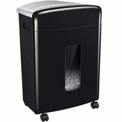 Bonsaii 16-Sheet Micro-Cut Paper/CD/Credit Card Shredder, 20 Minutes Running Time, 60 dB Low Operation Noise, 6.6 Gallons Basket and 4 Casters (C222-B)