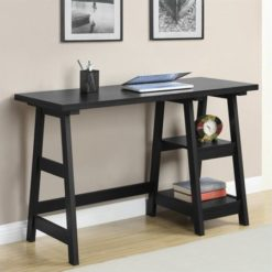 Convenience Concepts Designs2Go Trestle Desk, Black