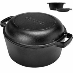 "Cuisinel 2-in-1 Cooker: 5 Quart Deep Pan, 10"" Frying Pan"
