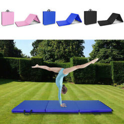 Day 1 Fitness Folding Gymnastics Gym Mat by D1F for Workout Equipment, Routines - High-Density Foam, Exercise, Yoga, Gymnastics, Crossfit, Aerobics, Tumbling Mats for Home, Foldable