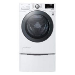 LG SmartThinQ TurboWash 360 4.5-cu ft High Efficiency Stackable Front-Load Washer (White) ENERGY STAR