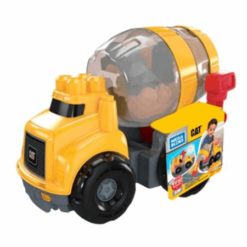 Mega Bloks Caterpillar Cement Mixer Vehicle, Yellow
