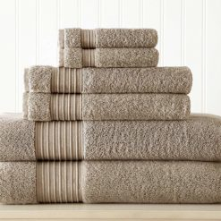 Pacific Coast Textiles 6-Piece 100% Turkish Cotton 700GSM Towel Set