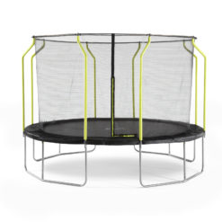 Plum Play Wave 14-Foot Trampoline, with Safety Enclosure, Black/Green