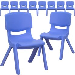 Roll over image to zoom in Amazonbasics 10 Inch School Classroom Stack Resin Chair, Blue, 6-Pack