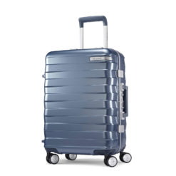 "Samsonite Framelock Hardside Carry On Zipperless Luggage with Spinner Wheels, 20"" Ice Blue"