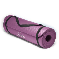 "Sivan Health and Fitness 1/2"" NBR Comfort Foam Yoga Mat"
