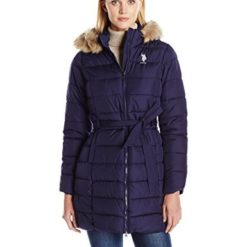 U.S. POLO ASSN. Belted Parka with Fur Hood
