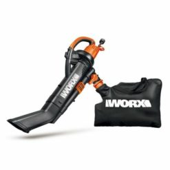 WORX WG509 TRIVAC 3-In-1 Electric Leaf Blower/Mulcher/Vacuum with Metal Blade
