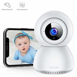eteme Baby Monitor 1080P FHD Home WiFi Security Camera Sound/Motion Detection with Night Vision 2-Way Audio Cloud Service Available Monitor Baby/Elder/Pet Compatible with iOS/Android
