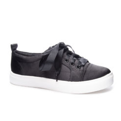 satin lace up sneaker