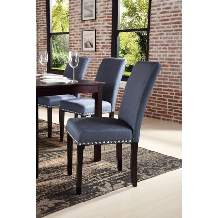 DHI Nice Nail Head Upholstered Dining Chair, 2 Pack ...
