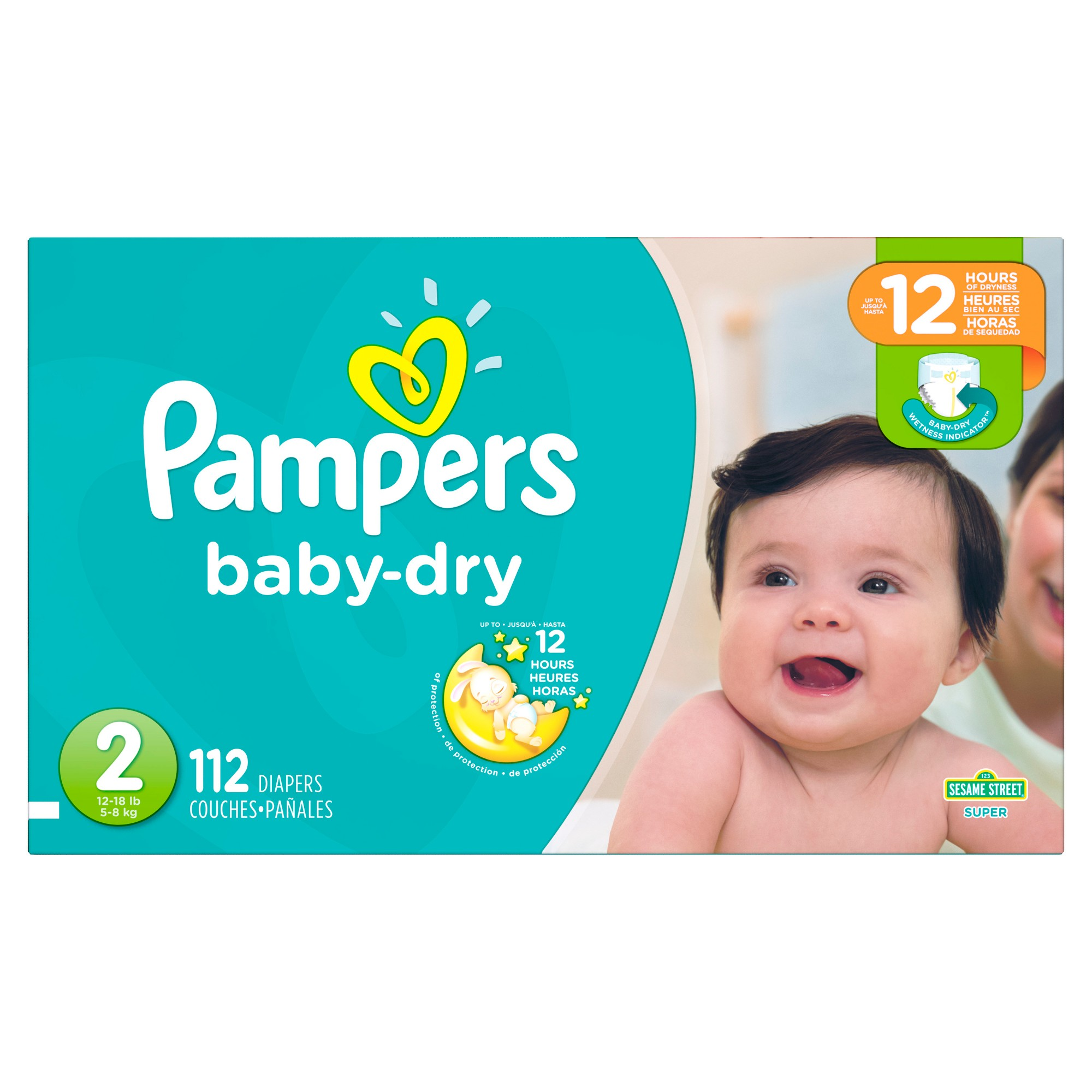 Diapers Size 2 112 Count Pampers Baby Dry Disposable