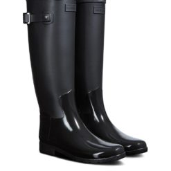 hunter-BLACK-Refined-Gloss-Tall-Duo-Waterproof-Rain-Boot