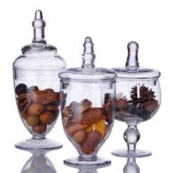 Home-Essentials-Terra-Collection-Assorted-Footed-Glass-Canisters-With-Lids-Set-of-3-0