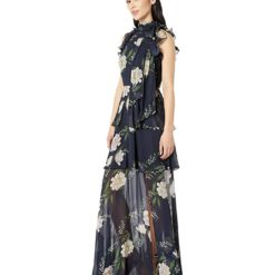 ML-Monique-Lhuillier-Sleeveless-Floral-Print-Gown-Navy-Multi-Womens-Dress-1